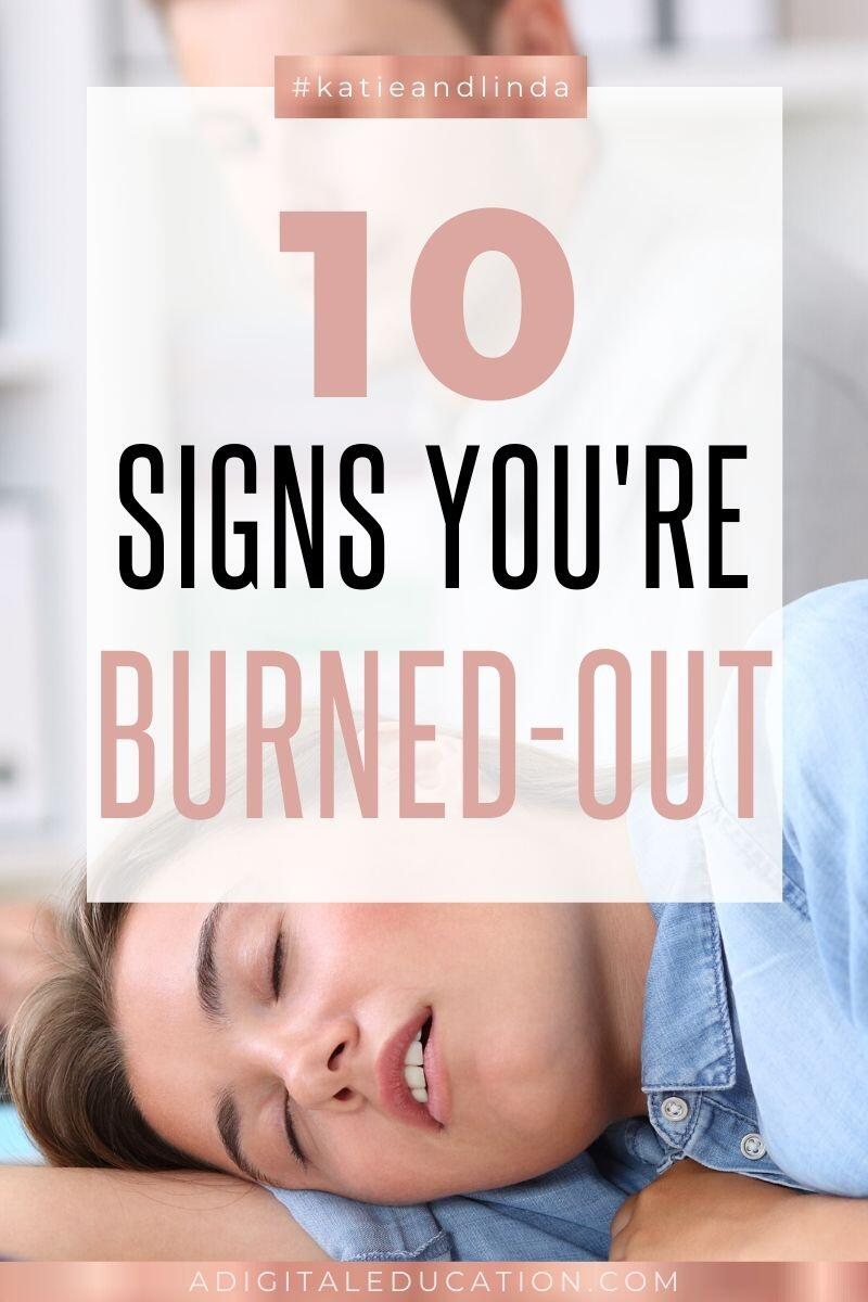 10 signs of burnout