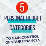The only 5 personal budget categories youll ever need