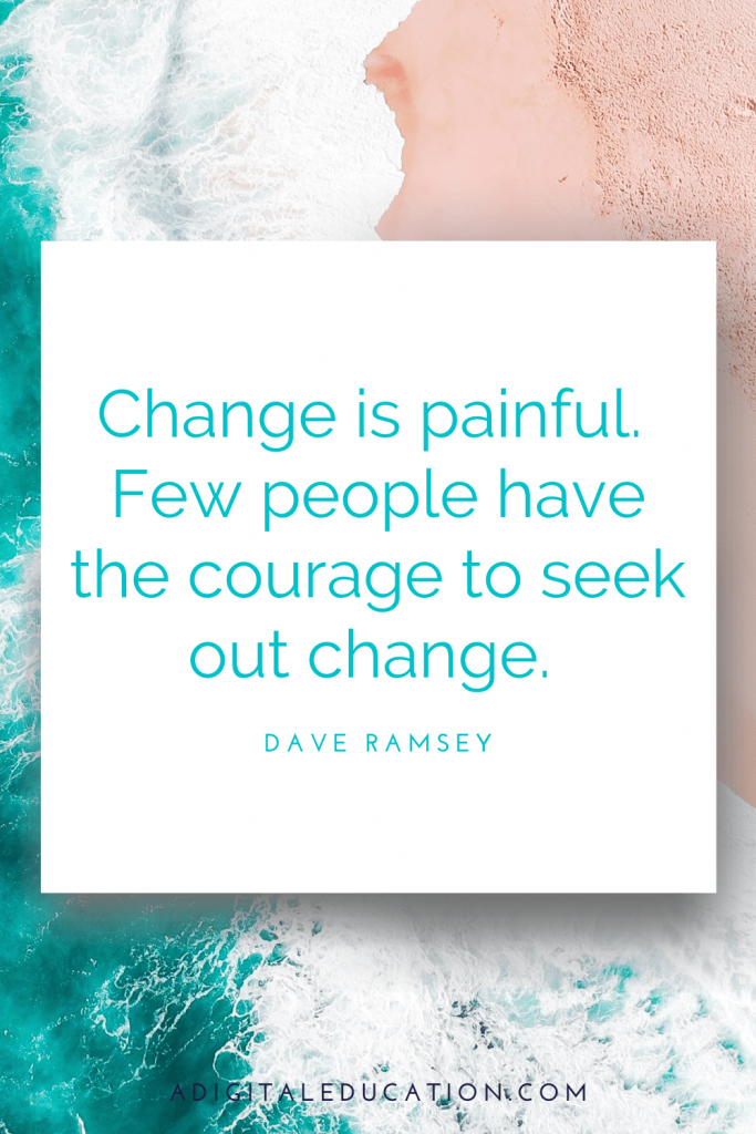 Dave Ramsey quote about goals and change