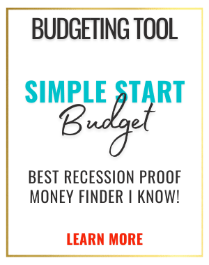 simple start family budgeting system Excel