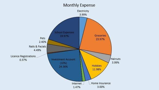 automated breakdown of personal budget categories and where you rmoney is being spent