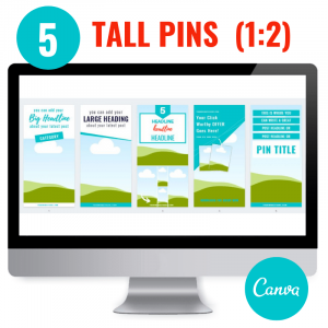 canva templates 5 tall pinterest pins