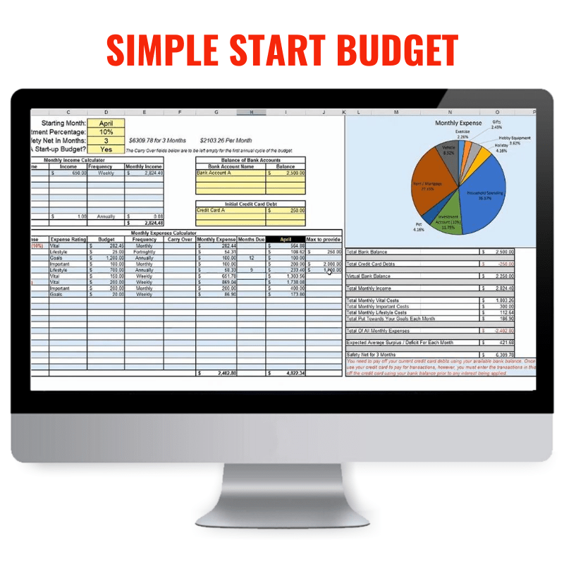 family budget excel