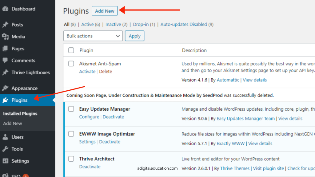 how to install new plugins on WordPress