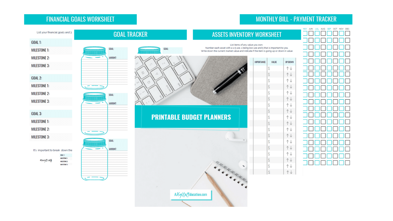 personal budget blanners by a digital education katie and linda