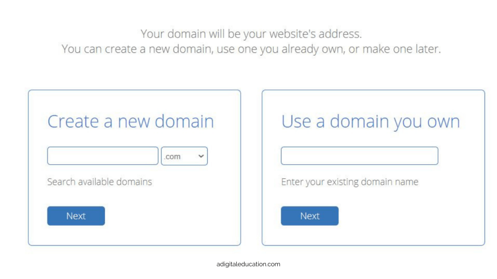 choosing a domain with bluehost when starting a new blog