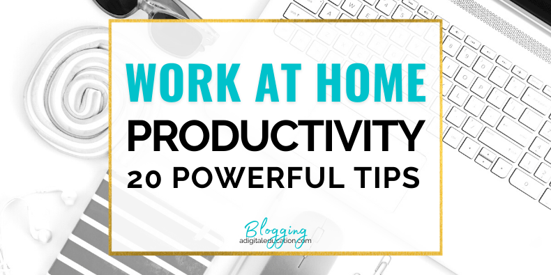 20 powerful times for working at home productively as a blogger feature image - blogger distracted by instagram
